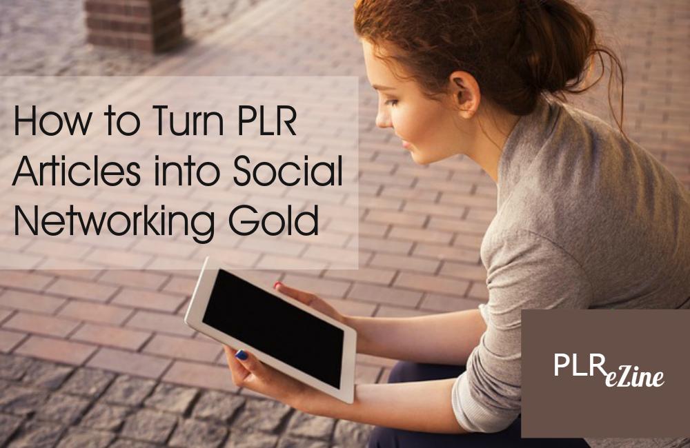 tuen PLR into social networking gold